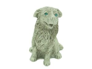 Lucky Pewter Dog With Sparkling Light Blue Eyes1