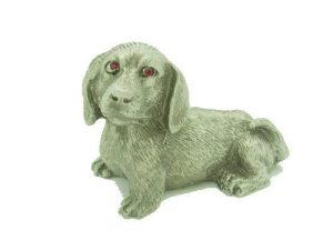 Lucky Pewter Dog With Sparkling Red Eyes1