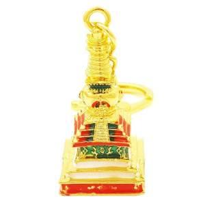 Medicine Buddha Stupa Key Chain
