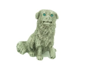 Pewter Loyal Dog With Sparkling Light Blue Eyes1