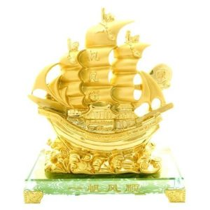 Prosperity Golden Wealth Ship with Treasures