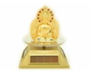 Solar Powered Rotating Buddha and Kuan Yin
