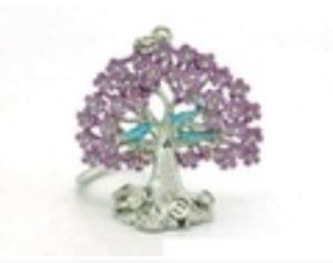 Wish Fulfilling Ngan Chëe Wealth Tree Key Chain