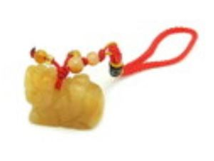 Yellow Jasper Pi Yao Protection Amulet