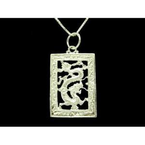 925 Silver Dragon Pendant with Silver Chain1