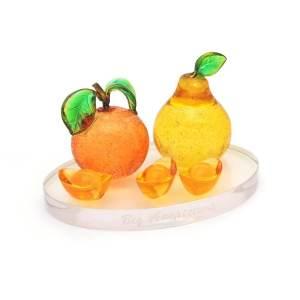 Auspicious Mandarin & Pear (Tai Kat Tai Lei)