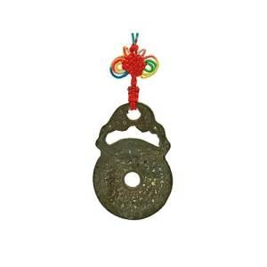 Brass Bat Bagua Horoscope Coin Amulet1