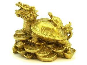 Brass Fortune Dragon Tortoise With Child1