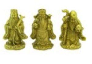 Brass Mini Feng Shui Fuk Luk Sau
