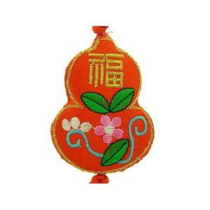 Brocade Embroidered Feng Shui Wu Lou Tassel1