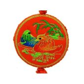 Brocade Embroidered Mandarin Ducks Tassel1
