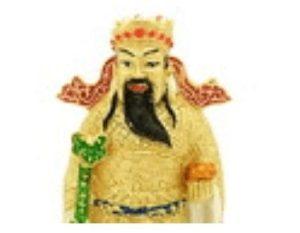 Chai Sen Yeh Wealth God with Ru Yi and Gold Ingot