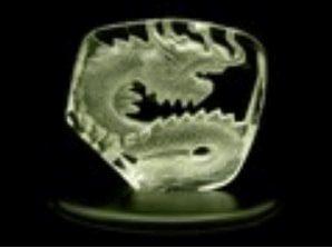 Crystal Embossed Feng Shui Dragon of Prosperity