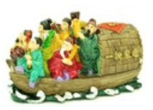 Eight Immortals on Boat