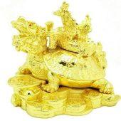Golden Feng Shui Dragon On Dragon Tortoise1