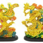 Golden Feng Shui Dragon and Phoenix