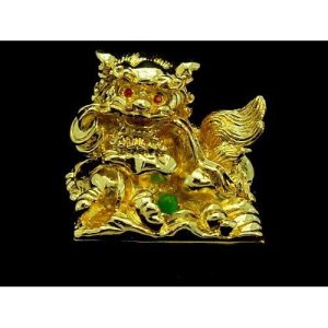 Golden Feng Shui Temple Lion Seal1