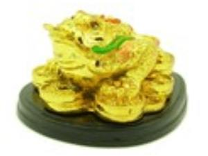 Golden Good Fortune Money Frog