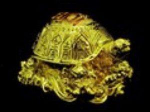 Golden Good Fortune Tortoise