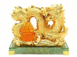 Golden Imperial Dragon with Wealth Pot1