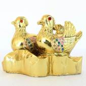 Golden Mandarin Ducks for Romance Luck