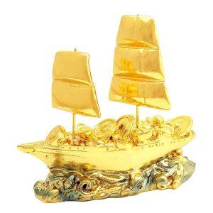 Golden Wealth Ship Laden with Treasures