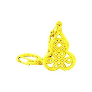 Golden Wulou with Mystic Knot and Coin Key Chain