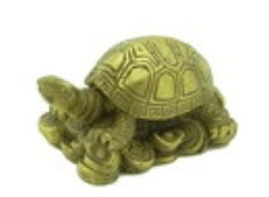 Good Fortune Tortoise on Gold Coins and Ingots