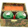 Green Yin Yang Chinese Health Iron Balls2