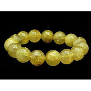 Natural Rutilated Round Bracelet 12mm1