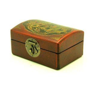 Oriental Antique Style Dragon & Phoenix Retangular Shape Box1