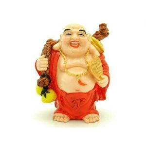 Red Robe Travelling Laughing Buddha Holding Wu Lou1