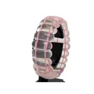 Rose Quartz Bangle Style Bracelet1