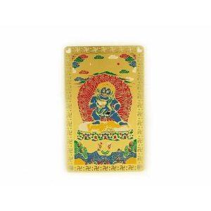 Tibetan Black Jambhala Amulet Card1
