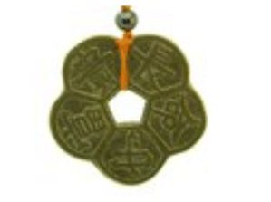 Vintage Plum Blossom Coin Amulet for Good Life