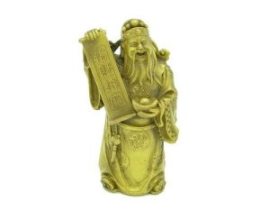 Wealth God with Ingot and Good Fortune Scroll1