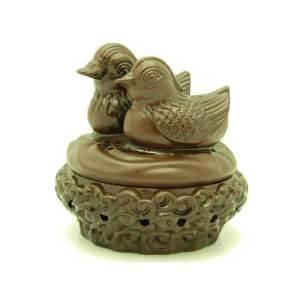 Zisha Clay Mandarin Ducks Incense Burner1