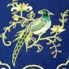 10Crt Gold Thread Silk Embroidered Magpie With Chrysanthemum2