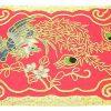10Crt Gold Thread Silk Embroidered Phoenix Mat (Red)2