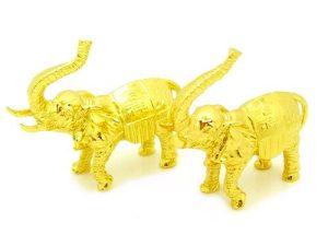 A Pair Of Mini Golden Elephants1