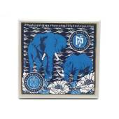 Anti Robbery Plaque - Blue Rhino and Elephant for Burglary Star1