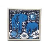 Anti Robbery Plaque - Blue Rhino and Elephant for Burglary Star1
