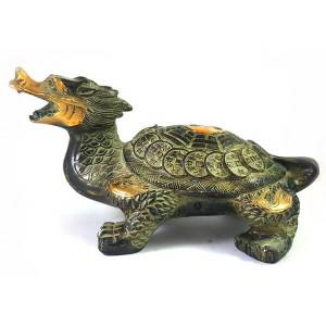 Antiquated Brass Feng Shui Dragon Tortoise (M)1