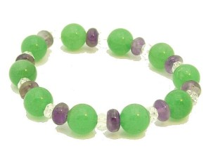 Aventurine With Amethyst And Clear Quartz Bracelet1