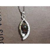 Bejeweled Black Opal Pendant C 欧泊1