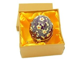 Bejeweled Wish-Fulfilling Purple Floral Egg Jewelry Box1