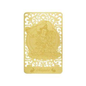Bodhisattva for Rabbit (Manjushri) Printed on a Card in Gold1