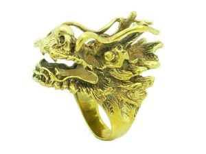 Brass Dragon Head Ring1