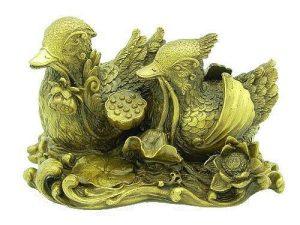 Brass Mandarin Ducks With Lotus1