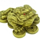 Brass Money Frog Bitting Coin (S)1
